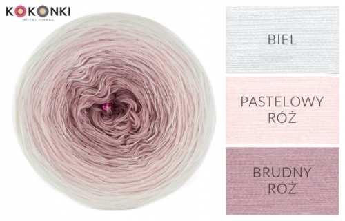 Kokonki A027 - pudrová/bílá