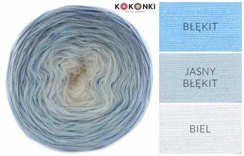 Kokonki A042 - ombré modré